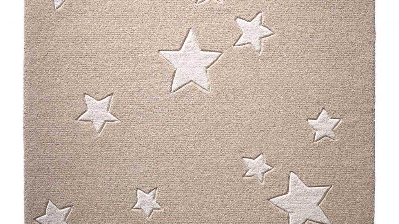 Dimension:80x150 cm Moderne Poils Ras Tapis Enfant Motif /Étoil/é Chambre denfant Pastel Rose Blanc